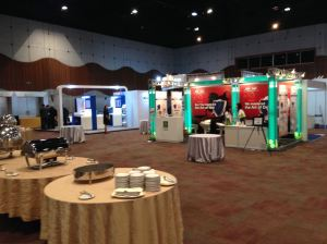 Exhibition hall at the 15th APCCMI at Sunway Convention Centre