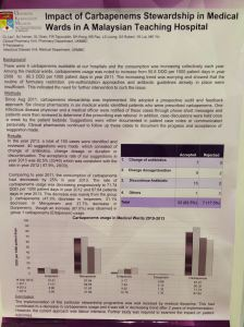 Another poster - presenting the work of a Malaysian carbapenem stewardship program.