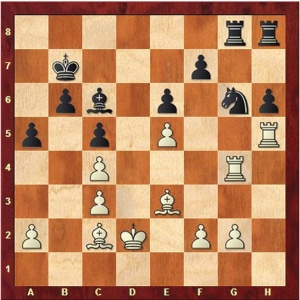 Carlsen-Anand Game 6, after the fateful 26. Kd2.