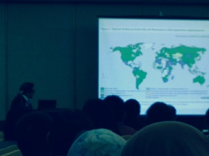 Prof Seto Wing Hong discussing the global map of resistance, characterized by missing data from many countries.