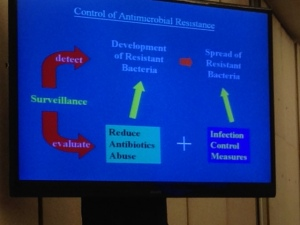 Another of Prof Seto's slides on the overview of antimicrobial resistance and control.