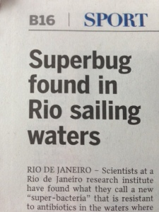 Superbug in Rio: ST photo.