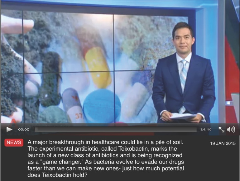 Channel NewsAsia Video on Teixobactin