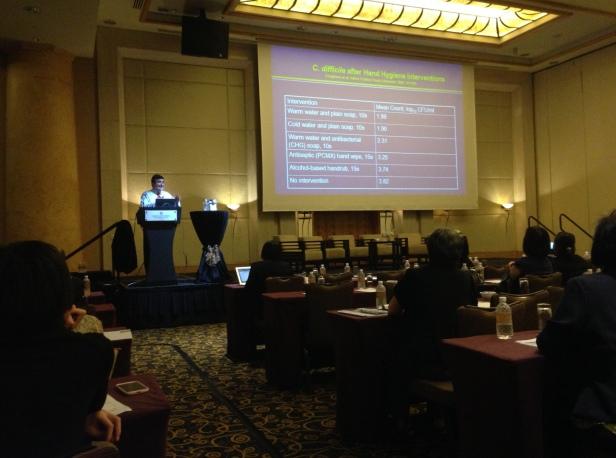 Talk on Clostridium difficile at ICICAS 2015 by Prof William Rutala from UNC School of Medicine