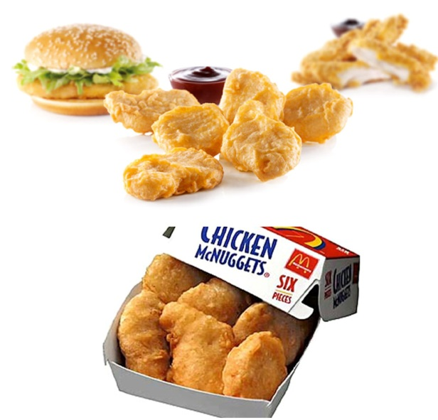 McDonald's chicken products (images from Google Images)
