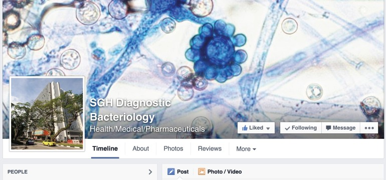 SGH Microbiology Facebook Page (screenshot).