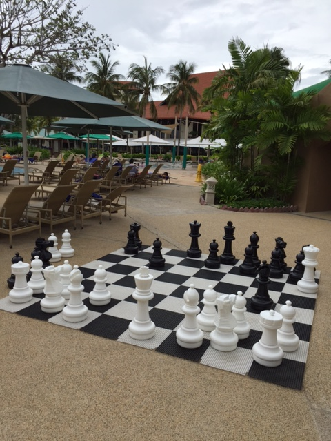 Huge chess set near the beachfront of the resort - not used at the time of my visit.