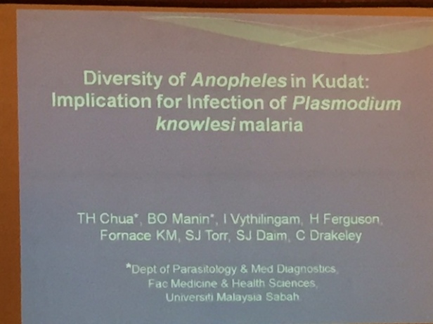 ... the diversity of Anopheles spp. (and Plasmodium spp. in these mosquitos) in parts of Sabah, Malaysia.