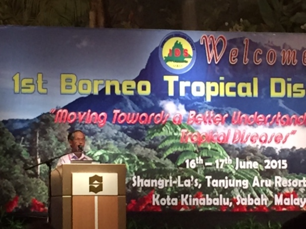 Prof. Tock Hing CHUA from University Malaysia Sabah describing ...