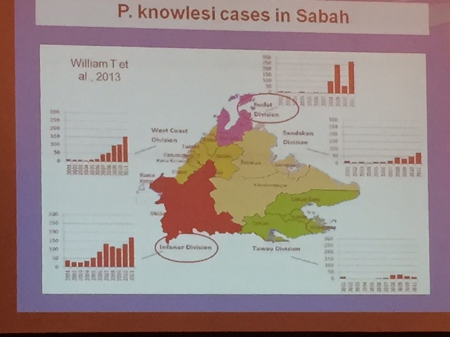 Different parts of Sabah with differing incidences of Plasmodium knowlesi infection.