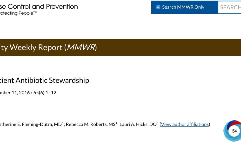Outpatient Antibiotic Stewardship | MIPHIDIC