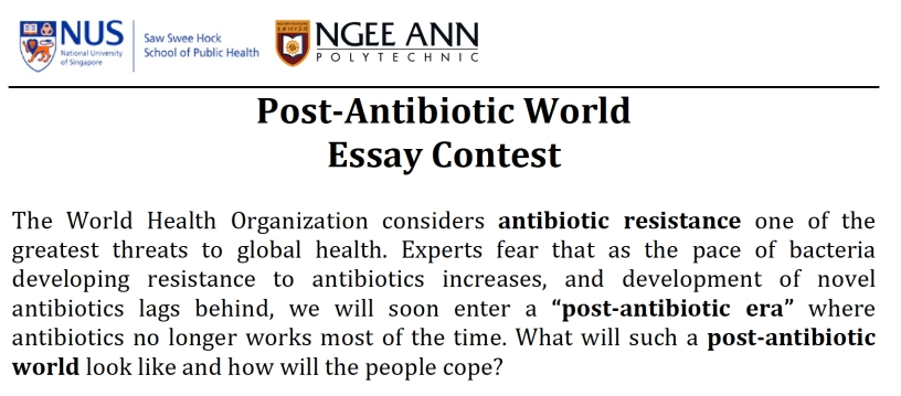 essay and video contests on antimicrobial resistance for students  essay and video contests on antimicrobial resistance for students