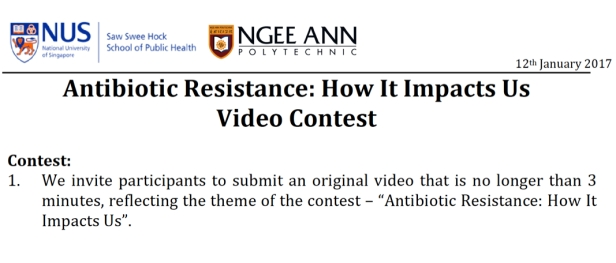 essay and video contests on antimicrobial resistance for students the video contest is open to students between 14 and 20 years of age no entry fee is required and we welcome any original video that is no longer than 3