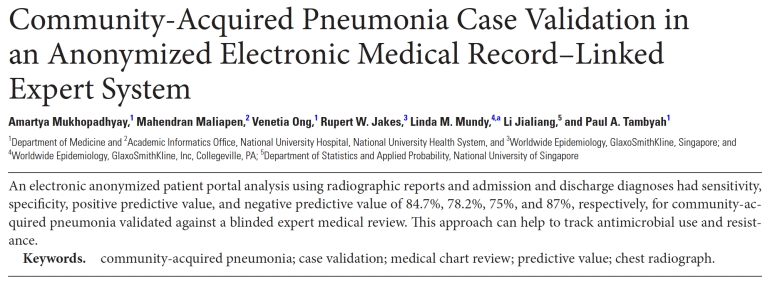 Retrospective Community-Acquired Pneumonia Identification by